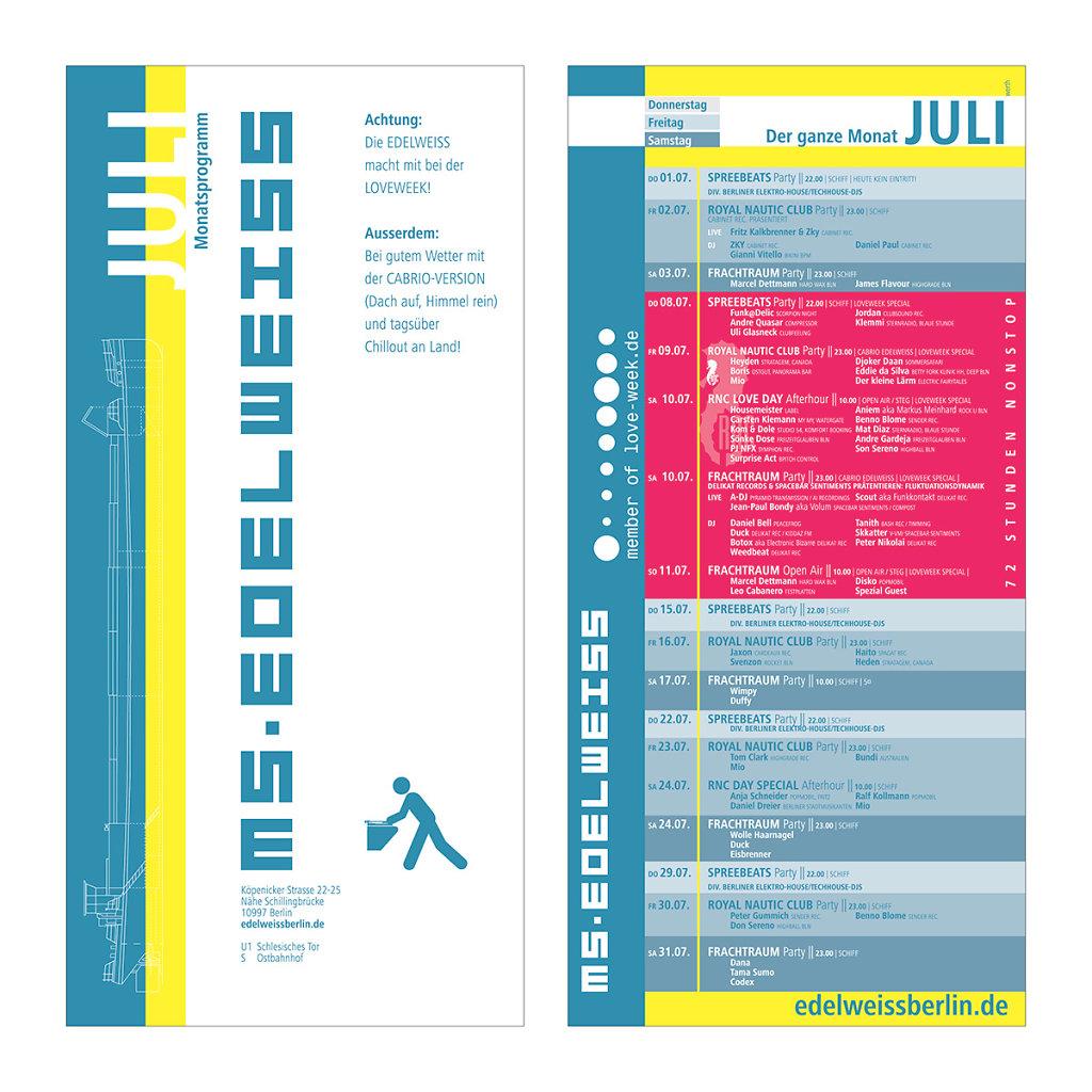 Monatsprogramm, Juli 2004