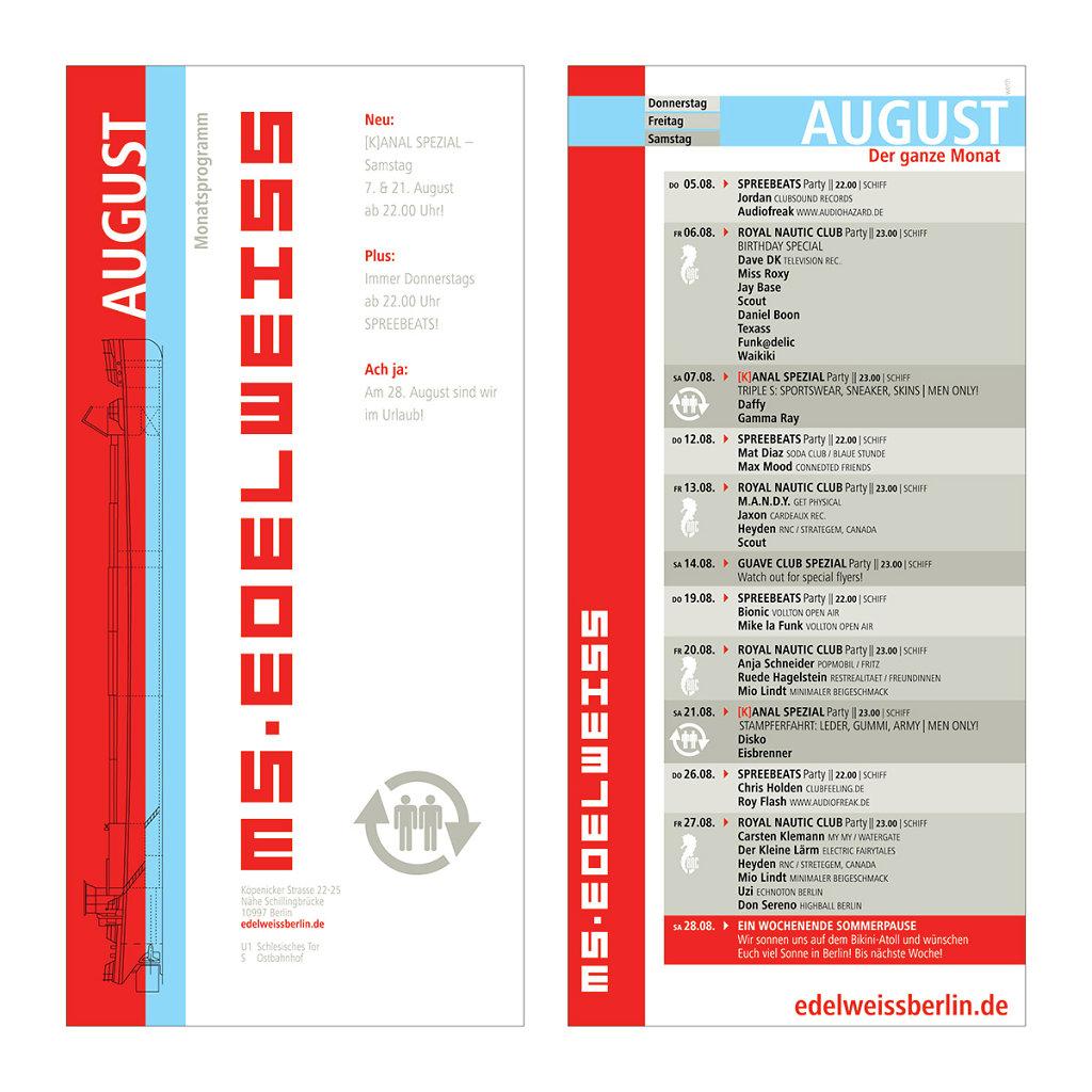 Monatsprogramm, August 2004