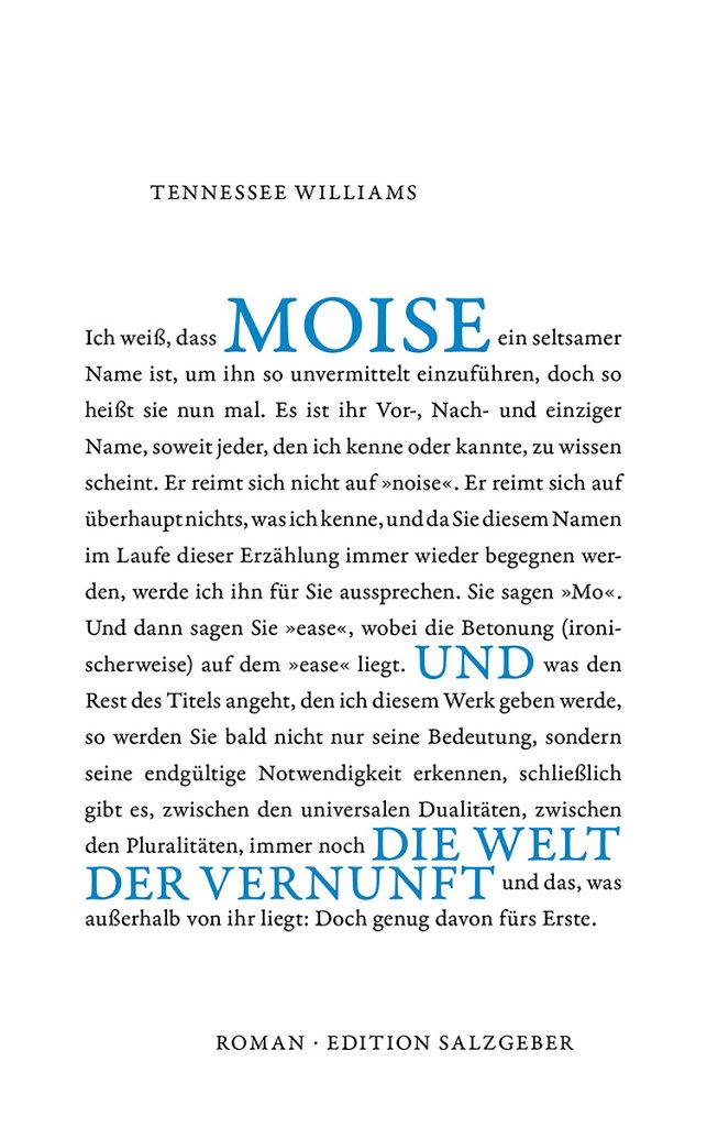 Tennessee Williams · Moise und die Welt der Vernunft